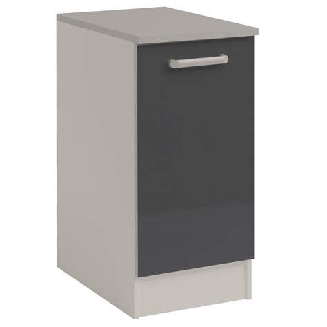 meuble bas cuisine but meuble bas cuisine 1 porte 40cm quot shiny quot gris