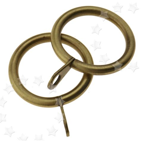 20x heavy duty metal curtain rings voile antique brass