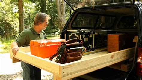 rolling truck bed toolbox youtube