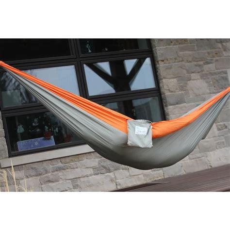 10 Foot Hammock by Vivere 10 Ft Parachute Hammock In Grey Orange