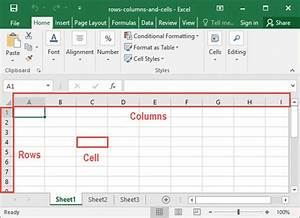 Working With Rows  Columns  And Cells