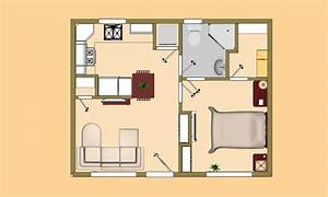 Small House Plans Under 500 Sq FT Simple Small House Floor ...