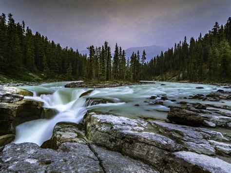 jasper national park alberta canada sunwapta falls photo