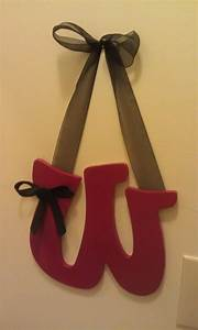 47 best baby board images on pinterest wood letters With wooden wall letters with ribbon