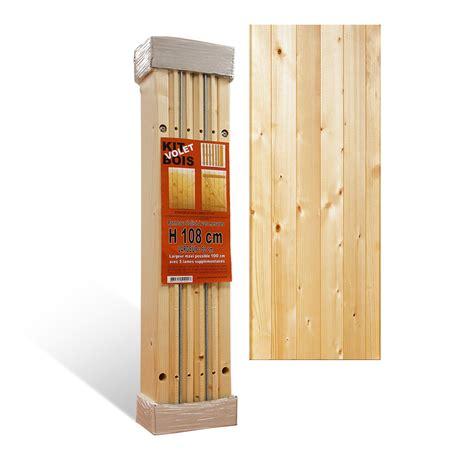 volets en kit 224 lames verticales 27 mm nu en bois volets sur mesure