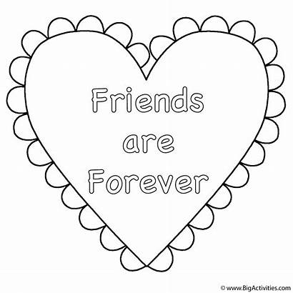 Coloring Valentine Friends Heart Forever Hearts Activity
