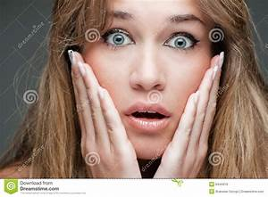 Woman With Surprised Expression Royalty Free Stock Images ...