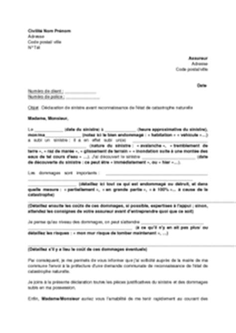 modele lettre declaration sinistre secheresse modele lettre assurance secheresse
