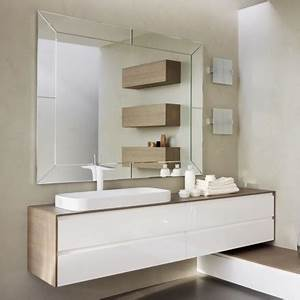 modele meuble salle de bain laque blanc With meuble de salle de bain blanc laque