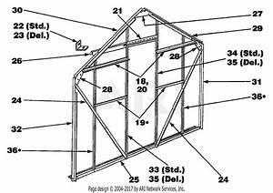 Troy Bilt 11450 Elite  8 U0026 39  X 6 U0026 39   Greenhouse Parts Diagram For Door End Assembly