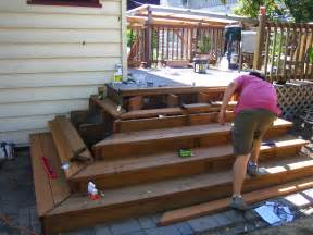 Build Steps For Deck by Building Wide Deck Stairs 2015 Best Auto Reviews