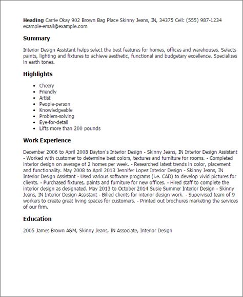 Assistant Designer Resumeassistant Designer Resume by Professional Interior Design Assistant Templates To Showcase Your Talent Myperfectresume