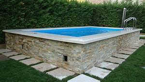 Piscine Semi Enterrée Coque : piscine hors sol beton piscine coque hors sol idea mc ~ Melissatoandfro.com Idées de Décoration