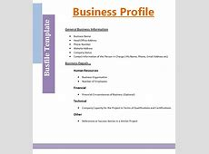 Business Profile Format Free Word Templates