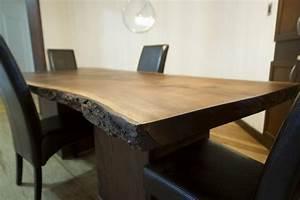 Table Bois Massif Brut : tables photos ~ Teatrodelosmanantiales.com Idées de Décoration