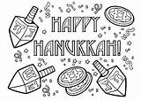 Coloring Hanukkah Pages Happy Chanukah Printable Sheets Drawing Fun December Colouring Dreidel Menorah Preschool Adult Symbols Adults Activity Crafts Getcoloringpages sketch template