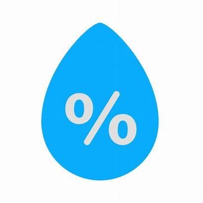 Humidity Icon Weather Rain Precipitation Percentage Drop
