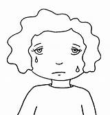 Sad Coloring Face Child Faces Happy Getcoloringpages sketch template