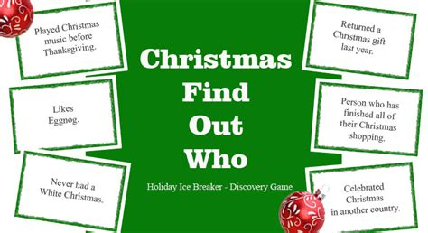 adult ice breaker christmas find out who breaker
