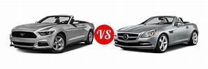 2016 Ford Mustang Convertible vs. 2016 Mercedes-Benz SLK-Class | Vehie.com