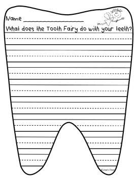 Tooth Fairy Creative Writing Paper And Prompt Writing