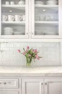 White Tolix Bar Stool by Subway Tile Backsplash Design Ideas