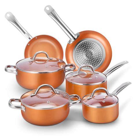 cookware pan pot piece induction saucepan amazon hairy bikers saute nonstick lid hobbs russell kitchen glass frying stone pans tobox