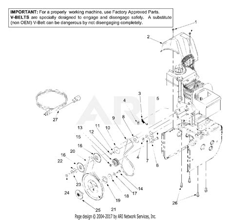 Mtd 600 Wiring Diagram by Mtd 31be600e131 2002 Parts Diagram For Engine Belt