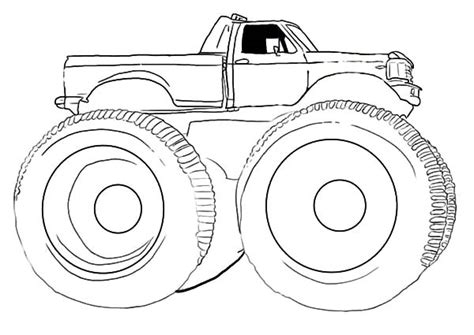 Car Tire Outline Coloring Pages