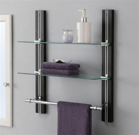 Badezimmer Regal by Bathroom Shelf Organizer Glass Towel Rack Bar Wall Mounted