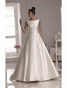 phoenix gowns mikado slash neck gown ivory b687 With mikado wedding dress