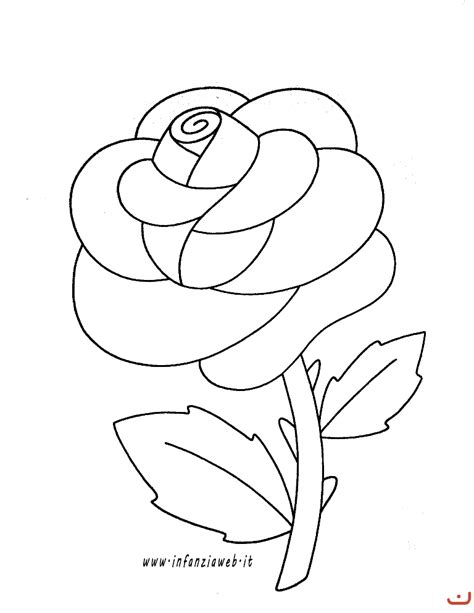 immagine fiore rosa risultati immagini per rosa da colorare per bambini