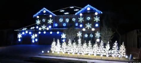 gangnam style christmas light show watch a house blink