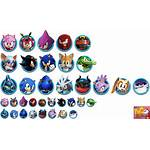 Sonic Character Icons Forces Speed Characters Battle