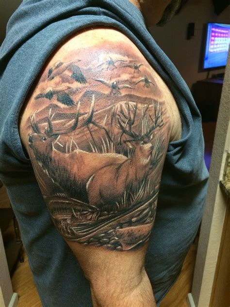 Hunting Tattoo Wildlife Deer Elk