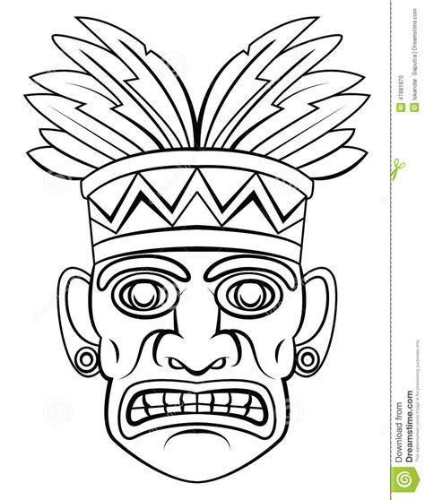 traditional mask stock vector image