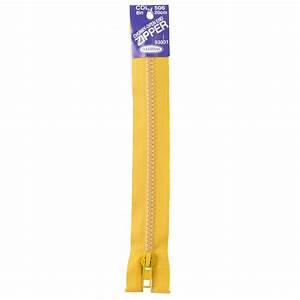 Chunky Open End Zip, Gold- 25cm - Zips - Lincraft