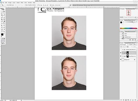 Passport Picture Template by Passport Photo Template Mobawallpaper