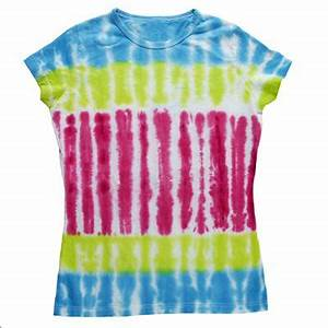 Bright Stripe Tie Dye Fabric dye