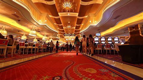 People Walking Inside The Wynn Casino Hotel Red Carpet