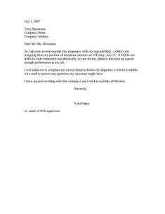 after maternity leave resign letter | Baby Ideas | Resignation letter, Letter example, Lettering