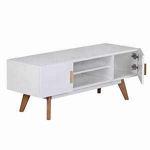 Tv Board 120 Cm : tv lowboard 120 cm mdf holz retro 2 t ren wei hifi regal fernseher kommode ebay ~ Frokenaadalensverden.com Haus und Dekorationen