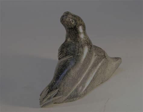 151112-47 Inuit Steatite Seal (missing Tusks