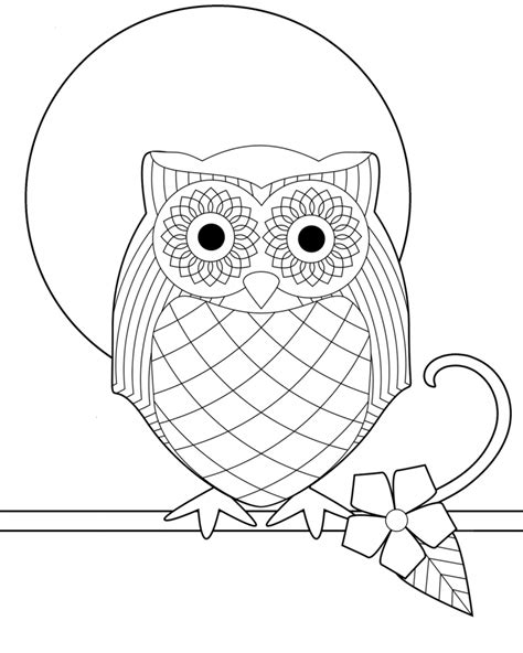 Owl Coloring Pages For Toddlers