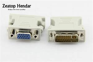 1pcs Dvi To Vga Cable Dvi 24 5 Pin To Vga Adapter Connector   Video Converter