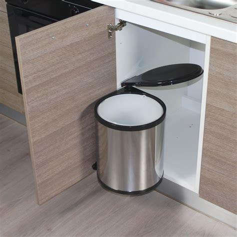 poubelle de cuisine encastrable poubelle de cuisine ronde encastrable alysta 14 litres