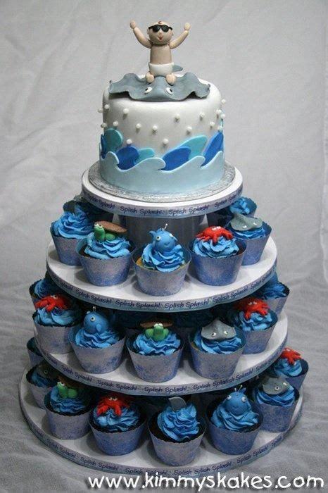 sea cupcakes ideas  pinterest mermaid