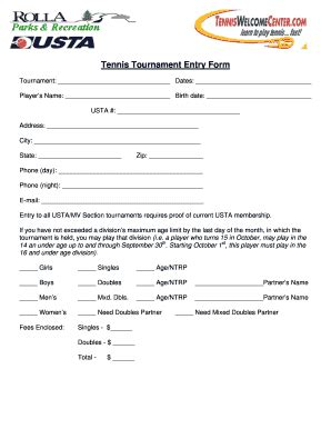Tournament Application Form Template by Tournament Brackets Forms And Templates Fillable