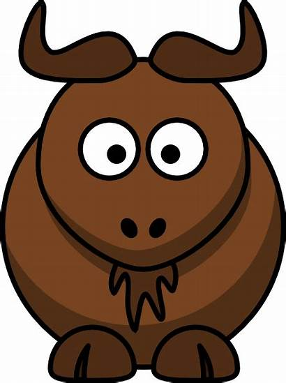 Cartoon Gnu Clip Buffalo Clipart Wildebeest Clker