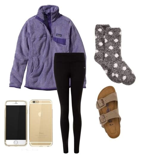 Lazy day | Birkenstock Patagonia and Polyvore fashion